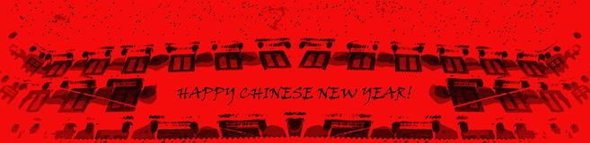 Chinese New Year: retro, hand drawn, lovely stock illustration