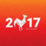 Chinese new year card with rooster. Vector illustration Royalty Free Stock Image