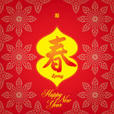 Chinese New Year card for  Spring Festival. Chinese New Year greeting card for  Spring Festival : Early Spring Happiness Royalty Free Stock Photography