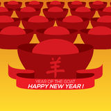 2015 Chinese New Year Card Traditional Chinese Alphabets. Yang : Meaning Goat Stock Images