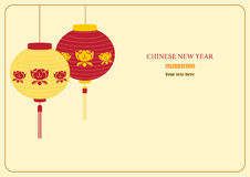 Chinese new year cards,Vector illustration Stock Images