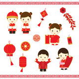 Chinese New Year cartoon  Royalty Free Stock Image