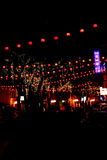 Chinese New Year Celebration. Nighttime view of Chinese New Year celebration in Malaysia Stock Photos