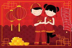 Chinese New Year celebration royalty free illustration