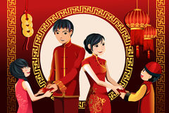 Chinese New Year celebration vector illustration