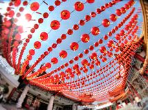 Chinese New Year Celebration. Lucky lanterns shine in a Chinese New Year Celebration in Kuala Lumpur, Malaysia Royalty Free Stock Photos
