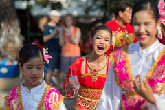Chinese New Year celebration. Hua Hin, Thailand - January 30, 2014: The Chinese New Year celebrated by a group of school children in Hua Hin. In Thailand New Stock Photo
