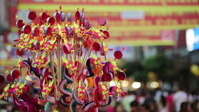 Chinese new year celebration, bangkok, thailand stock footage