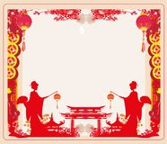Chinese New Year celebration frame. Vector Illustration Stock Photo