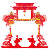 Chinese New Year celebration frame Stock Photography