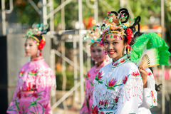 Chinese New Year celebration. Hua Hin, Thailand - January 30, 2014: The Chinese New Year celebrated in Hua Hin. In Thailand New Year is celebrated on three Stock Photos