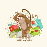 Chinese New Year celebration with Monkey. Royalty Free Stock Photos