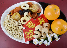 Chinese New Year celebration party tray of togetherness Stock Photos