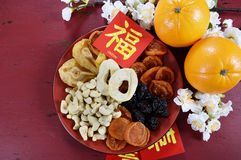 Chinese New Year celebration party tray of togetherness stock image