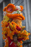 Chinese New Year Celebrations - Bangkok - Thailand. Chinese Dragon at the Chinese New Year celebrations in Chinatown in Bangkok in Thailand Stock Photo