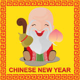 Chinese New Year and Chinese God Stock Photography