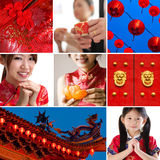 Chinese new year concept. Collection / collage photo of Chinese new year concept