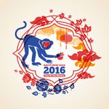 Chinese New Year Creative Concept With Monkey And Royalty Free Stock Photos