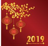 chinese new year 2019 royalty free illustration