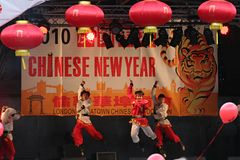 Chinese New Year Dancers Stock Image