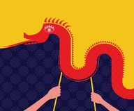 Chinese New Year -Dancing Dragon. Chinese New Year Decoration - Dancing Dragon 2015 stock illustration