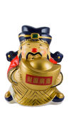 Chinese New Year Decor. A chinese new year character God of Wealth, which is a symbol for bringing prosperity, isolated in white with clipping path Royalty Free Stock Photo