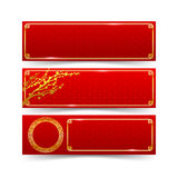 chinese new year decoration banner set modern art chinese style vector illustration