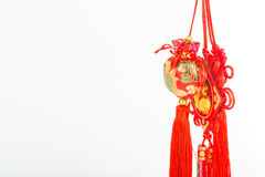 Chinese new year decoration with character FU mean good luck. Fortune and blessing Stock Image