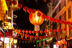 CHINESE NEW YEAR DECORATION IN CHINA TOWN, LONDON Stock Images