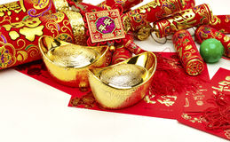Chinese New Year. Decoration, gold firecracker royalty free stock photo