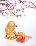 Chinese new year decoration:golden monkey Royalty Free Stock Photography