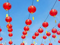 Chinese new year decoration, lantern. Chinese new year decoration, red lantern at China town Stock Photo