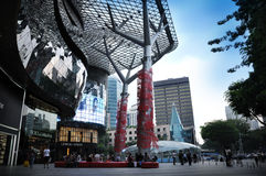 Chinese New Year Decoration at Orchard Road stock image