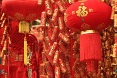 Chinese new year decoration. Red chinese new year decorations market