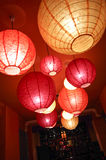 Chinese new year decoration--Red lantern with copy space Stock Image