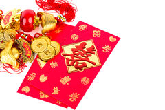 Chinese new year decoration and red packet Stock Photography