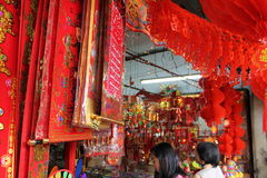 Chinese new year decoration shop at petaling street malaysia Stock Photo