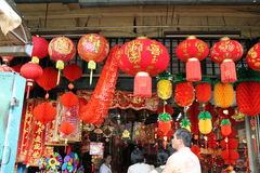 Chinese new year decoration shop at petaling street malaysia Stock Photography