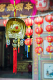 Chinese New Year. Decoration for Chinese New Year in the shrine stock image