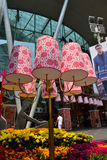Chinese New Year Decoration. SINGAPORE - FEBFRUARY 26: Chinese New Year Decoration at Orchard Road on February 26, 2015 in Singapore. Orchard MRT Station (NS22/ Stock Photos