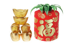 Chinese New Year Decorations. On white Background
