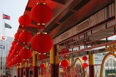 Chinese New Year Decorations. In Hong Kong Stock Photography