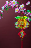 Chinese new year. Decorations. Chinese favourite flowers.  craft Royalty Free Stock Photo