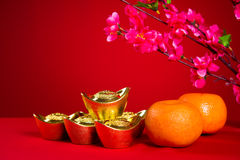 Chinese new year decorations,generci chinese character symbolize Royalty Free Stock Photography