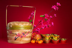 Chinese new year decorations,generci chinese character symbolize Royalty Free Stock Images