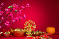 Chinese new year decorations,generci chinese character symbolize Royalty Free Stock Image