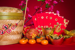 Chinese new year decorations,generic chinese character symbolize Stock Photography