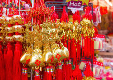 Chinese New Year decorations. Lucky trinkets and decorations for Chinese New Year Stock Image