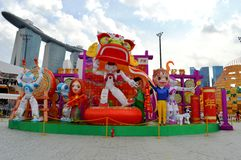 Chinese New Year Decorations at Marina Bay Sands Stock Photos