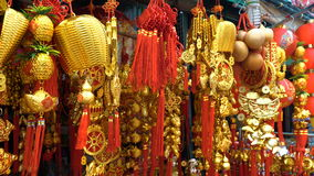 Chinese New Year decorations stock video